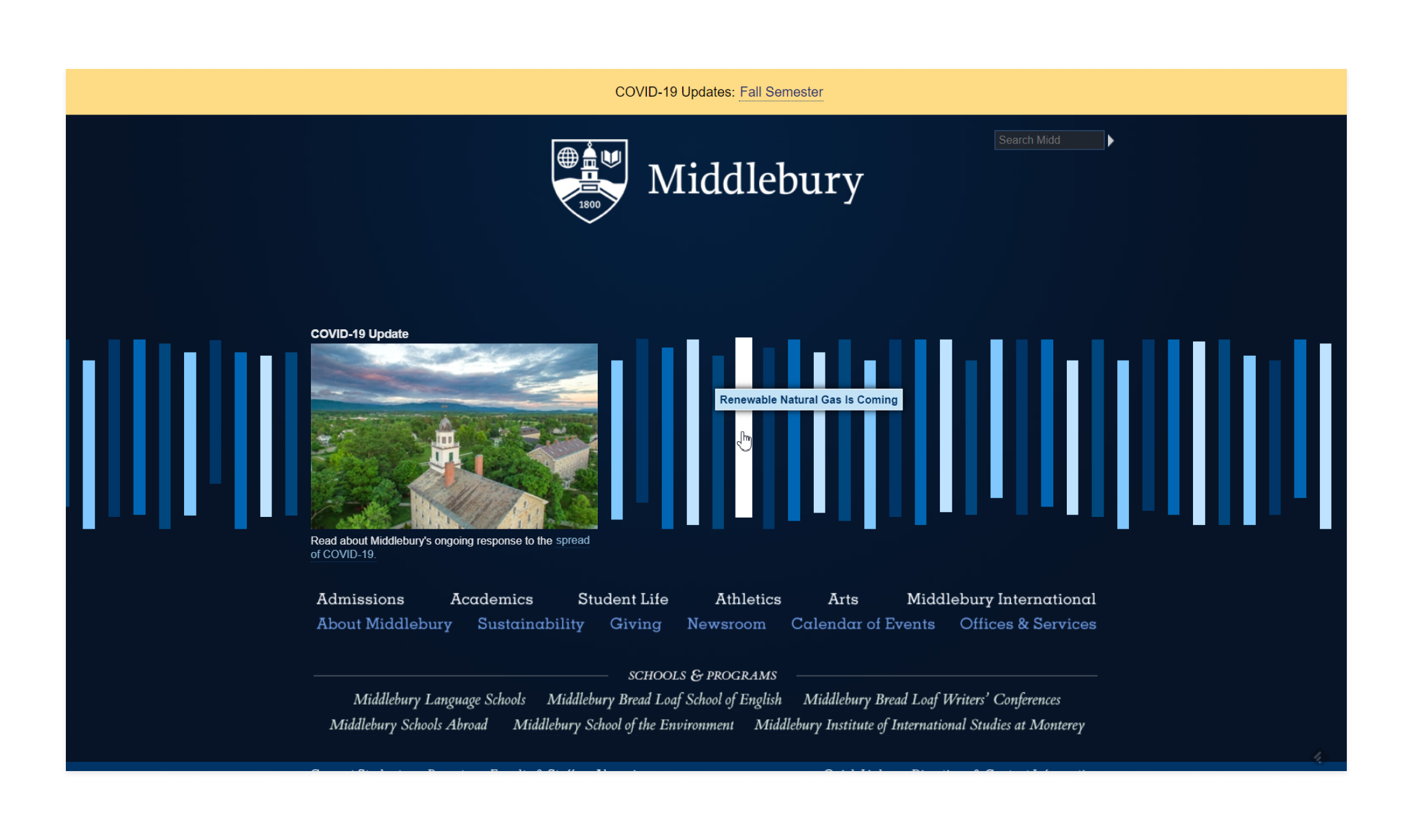 Middlebury College website