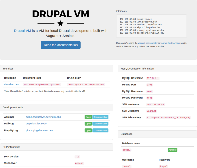 Spinning up the Drupal environment with Drupal VM 3