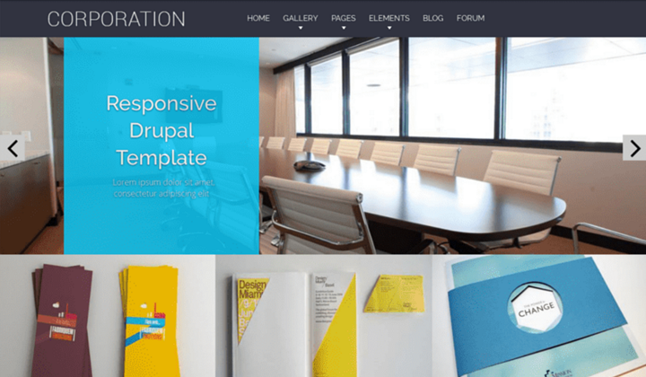 Top-10 Drupal corporate themes 4