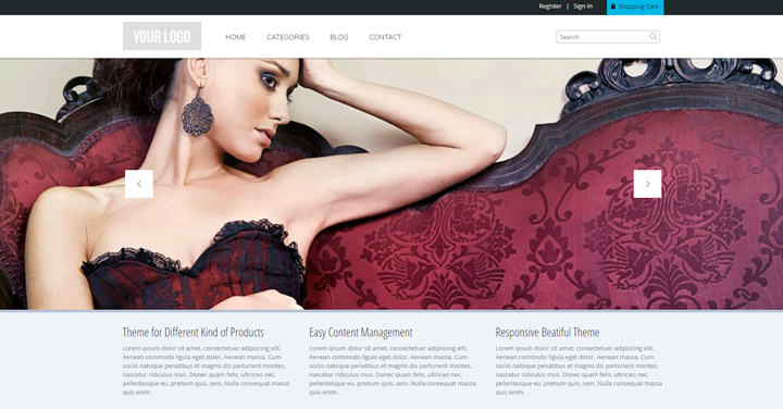 The Commerce theme by ADCI Solutions