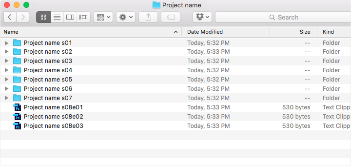 One of the methods of working with file names